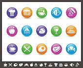 Food Icons - Set 1 of 2 // Rainbow