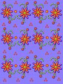 Daisy Garden Linen Lilac