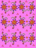 Daisy Garden Linen Pink