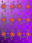 Daisy Garden on bright Purple