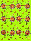 Daisy Garden on Lime Green