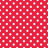Red seamless polka dot background