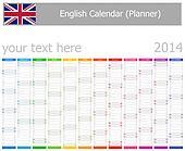2014 English Planner Calendar