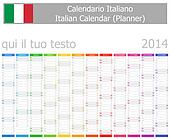 2014 Italian Planner Calendar with