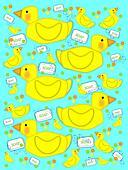 Bathtime duck and bubbly soap aqua