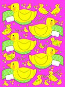 Bathtime duck and Towel Hot Pink
