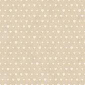Seamless retro pattern of Valentine's hearts on paper texture.