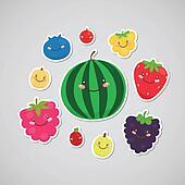 Cute berry sticker