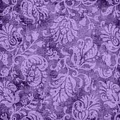 Vintage Purple Floral Tapestry