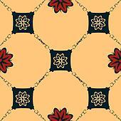 Seamless Art Nouveau tile