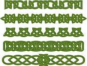 Green celtic ornaments