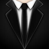 Black tuxedo with tie