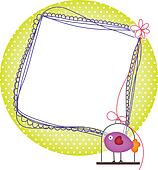 Photo frames with bird cage