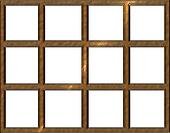 Isolated Wooden Window Frame