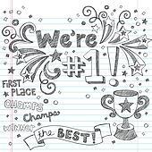 Winner Trophy Champ Sketchy Doodles