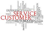 Customer service wordcloud