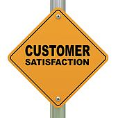 3d customer satisfaction road sign