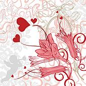 romantic background with bright col
