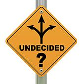 Undecided road sign