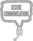 Secure Communications chain lock frame
