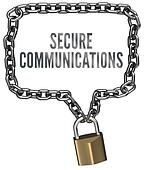 Secure Communications chain lock border