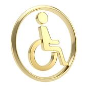 Disabled handicapped person icon emblem isolated