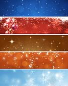 Abstract Xmas Banners