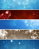 Abstract Winter Banners