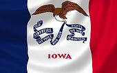 Flag of Iowa American state
