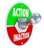 Action vs Inaction Lever Toggle Switch Driven Initiative