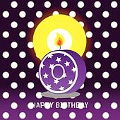 zeroth birthday with candle