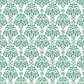 Seamless Teal Green Damask