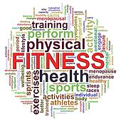 Fitness worcloud word tags