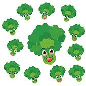 celery cartoon with expressions