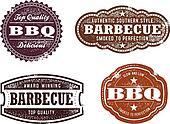 Vintage BBQ Stamps