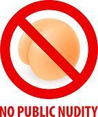Stop sign nudism