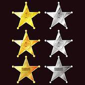 set of stars sheriff signs