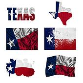 Texas flag collage
