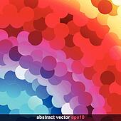 Rainbow Circles Background