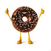 3d rendered illustration of a donut character