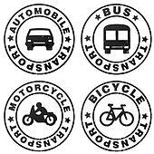 stamp symbolizing transport