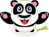 Happy Baby Panda Laughing