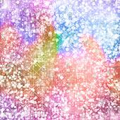 Abstract snowy background with snowflakes, stars and fun confetti