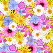 Wildflowers background, illustration