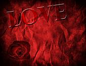 Textured Red Background for Valentine's Day