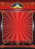 Red dark circus