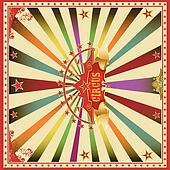 Square circus color card