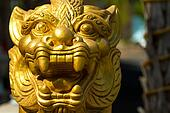 Thai dragon gold statue