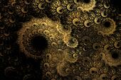 Spiraling golden fractal