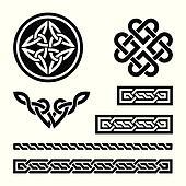 Celtic knots, braids and patterns -